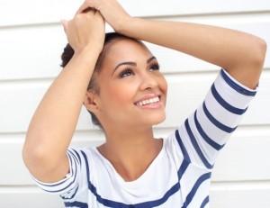 Woman considering rhinoplasty